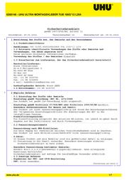 UHU Industrial glue 44310 100 g 44310 Data Sheet
