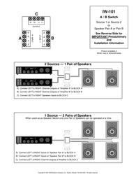 OEM iw-101 Installation Instruction