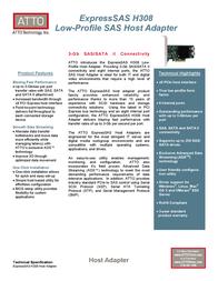 Atto ExpressSAS H308 ESAS-H308-000 Leaflet