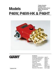 Giant Saw Triplex Ceramic Plunger Pump User Manual