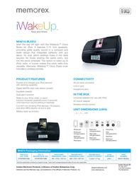 Memorex iWakeUp MI4014-BLKEU Leaflet