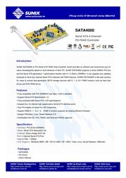 Sunix SATA4000 Leaflet