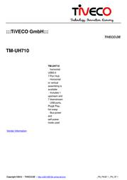 Tiveco TM-UH710 Leaflet