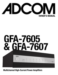 Adcom GFA-7607 User Manual