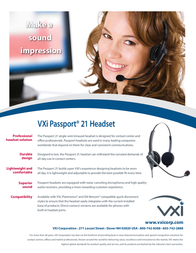 VXi Passport 21V 202768 Leaflet