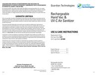 Guardian Technologies Guardian Technologies, LLC Vacuum Cleaner GGH200 User Manual