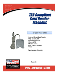 TAA Products TAASCR Leaflet