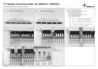 Telegärtner 50-port ISDN patch panel, Cat. 3 J02024L0002 Leaflet