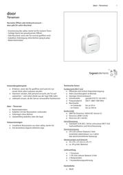 Gigaset Elements Door sensor S30851-H2511-R101 Data Sheet
