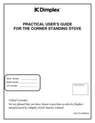 Dimplex Corner Standing Stove User Manual