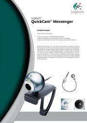 Logitech QuickCam Messenger 960-000127 Leaflet