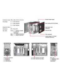 Athenatech mATX Tower Black w/400W PS A3030BB.400 Leaflet