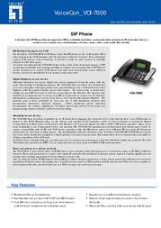 LevelOne SIP Phone VOI-7000 Leaflet