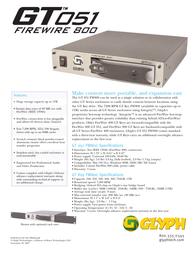 Glyph gt0510f0-1000 Specification Guide