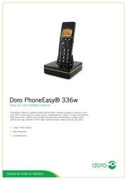 Doro PhoneEasy 336w 380021 User Manual