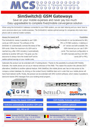 MCS SimSwitch/VoIP/AS551/4V P108594 Leaflet