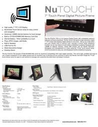 Digital Spectrum Nu-Touch 700 E-30377-RV1 Leaflet