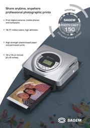 Sagem Photo Easy 150 PE150/P40 Leaflet