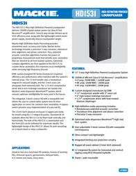 Mackie HD1531 0031218-01 User Manual