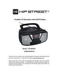 Hip Street HS-BB008 User Manual