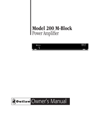 Outlaw Audio 200 M-Block User Manual