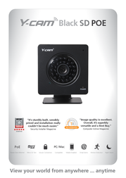 Y-cam Black SD POE YCBP03 Leaflet