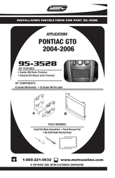 Pontiac 95-3528 User Manual