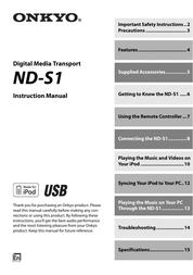ONKYO ND-S1 User Manual