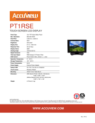"""Accuview 10.4"""" PT1RSE Leaflet"""