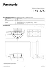 Panasonic TY-ST20-K Leaflet
