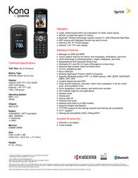 Sprint Kyocera Kona KYS2151KIT?HW Folheto