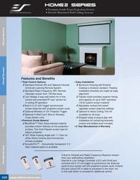 Elite Screens HOME120IWV2 Brochure