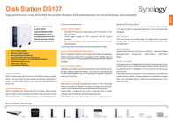 Synology DS107 500GB DS107_1050 Leaflet