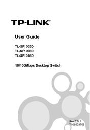 TP-LINK 5-Port 10/100Mbps Desktop Switch TL-SF1005D User Manual