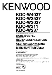 Kenwood Electronics WMA/ MP3/ CD-Receiver KDC-W3037G User Manual