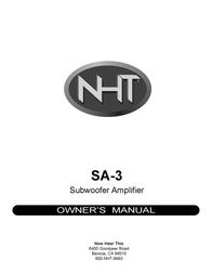 NHT SA-3 User Manual