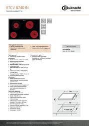Bauknecht ETCV 8740 IN Leaflet