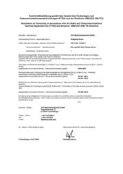 Svs Nachrichtentechnik 01094.11 CS-10 SE MULTICHANNEL-RADIO TRANSMITTER CS-10 SE Component 12 - 24 Vdc N/A 01094.11 Data Sheet