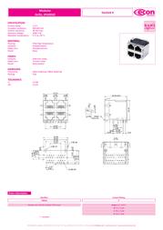 Econ Connect 3022S2, Pin RJ45 Socket, horizontal mount Metal 3022S2 Data Sheet