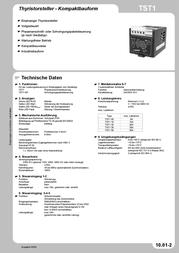 Tele Thyristor control module 1-phase TST1 15 499991 Data Sheet