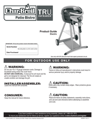 Char-Broil Patio Bistro 12601688 User Manual