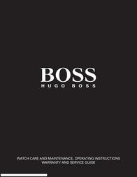 Hugo Boss 1512323 User Manual