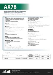 abit AX78 Leaflet