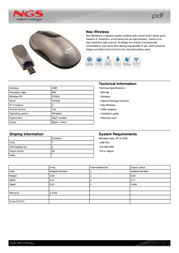 NGS Neo Wireless NEOWIRELESS Leaflet