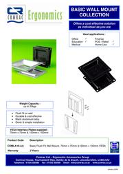 Comrac Basic Flush Fit Wall Mount COMLA10AA Leaflet