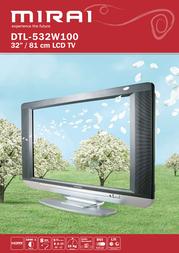"""Mirai 32"""" LCD TV DTL-532W100 Leaflet"""