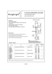 Kingbright Electronic L-53SRC/E Manuale Utente