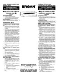 Broan 46000 User Manual
