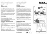 Piko G 35260 G Control panel 35260 Data Sheet