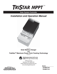 Morningstar Solar charge controller 321036 User Manual